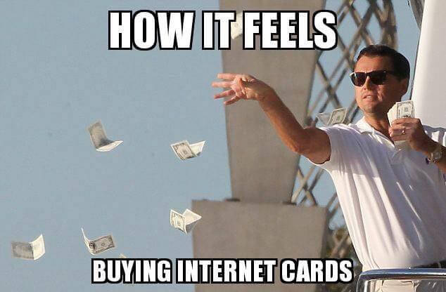 How It Feels Buying Internet Cards