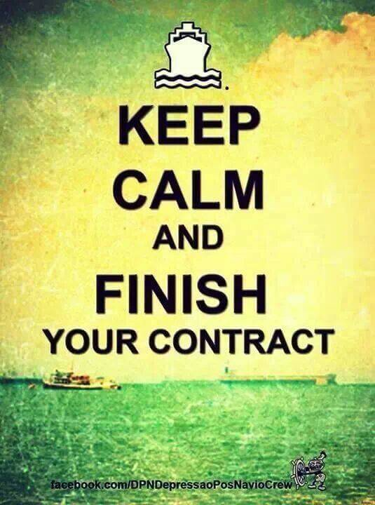 Kepp Calm And Finish Your Contract
