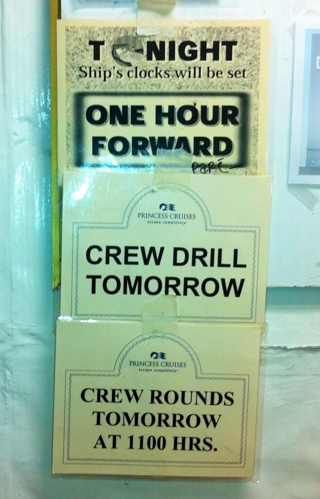 Princess Cruises Crew Drill и Crew Rounds